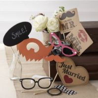 Vintage Themed Wedding Photobooth Props Kit